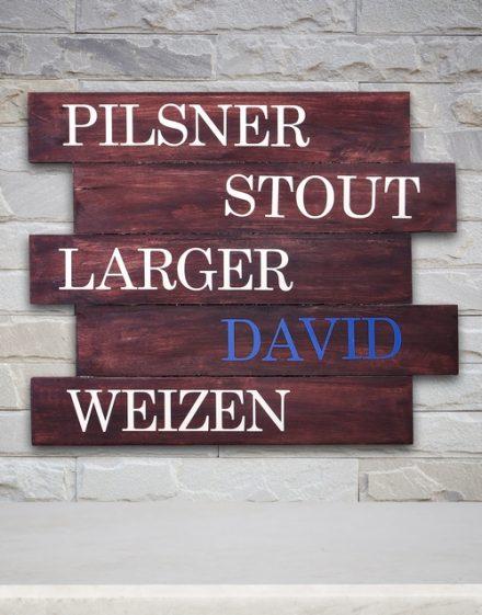 Personalised Beer Lover Panel Artwork
