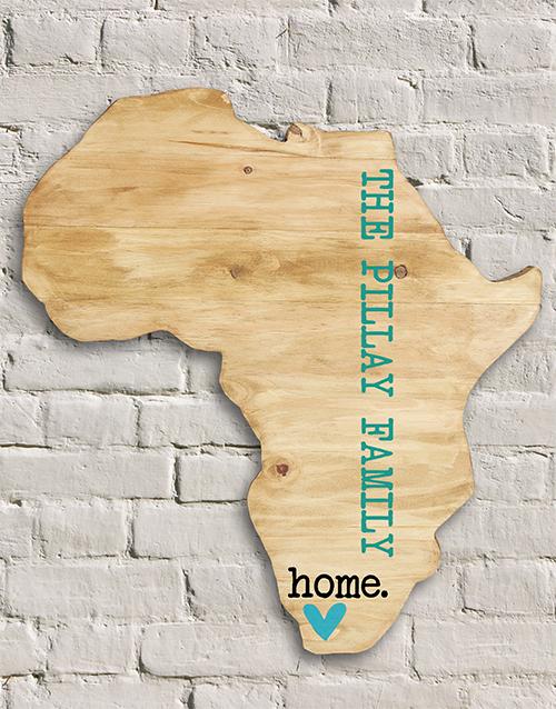Personalised African Wood Wall Art