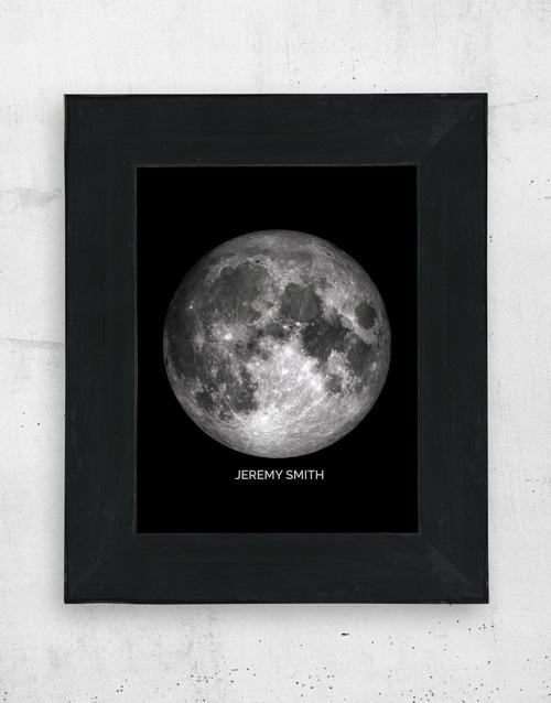 Personalised Moon Wall Art