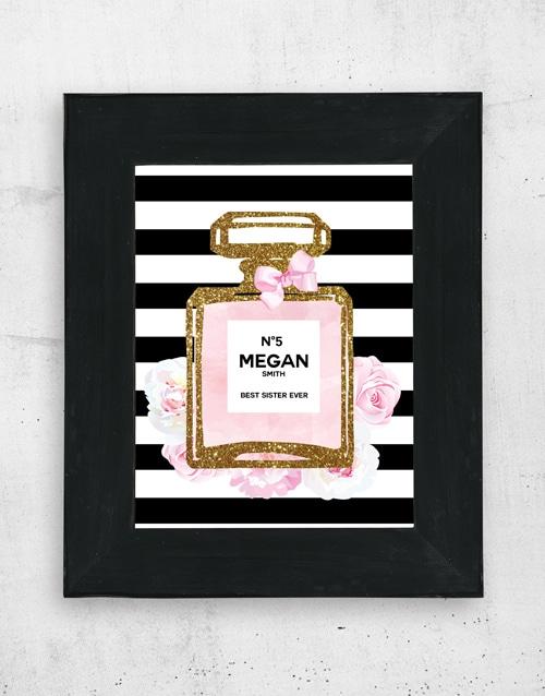 Personalised Perfume Wall Art