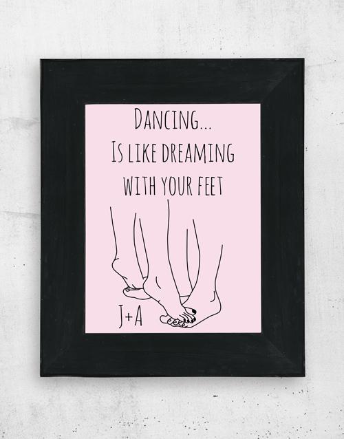 Personalised Dancing Wall Art