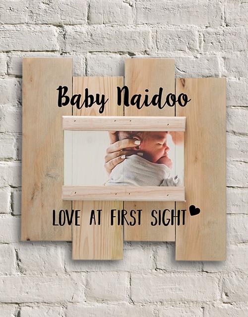 Personalised Baby Love Photo Slit Frame