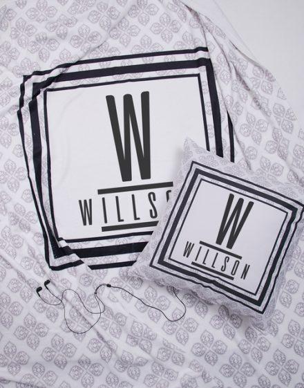 Personalised Modern Name Blanket or Cushion