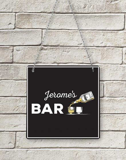 Personalised Metal Bar Sign