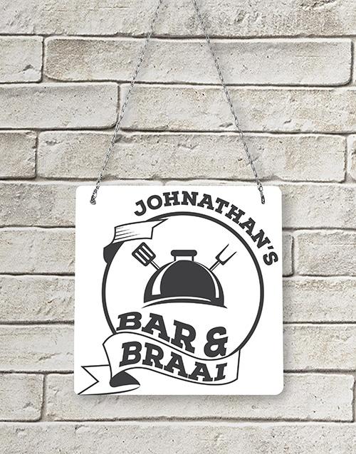 Personalised Bar & Braai Metal Sign