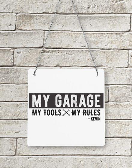 Personalised My Garage Metal Sign