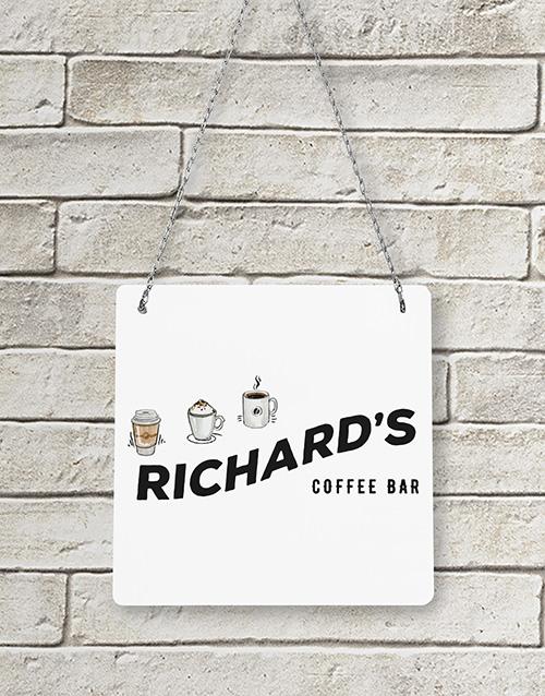 Personalised Coffee Bar Metal Sign