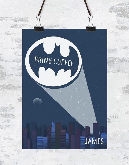Personalised Bring Coffee Poster