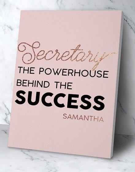 Personalised Secretary Success Wall Art