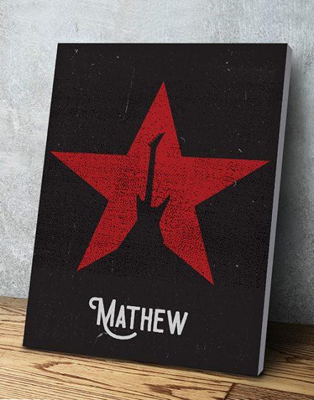 Personalised Guitar Poster