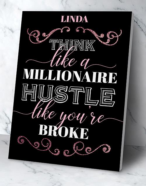 Personalised Millionaire Hustler Poster