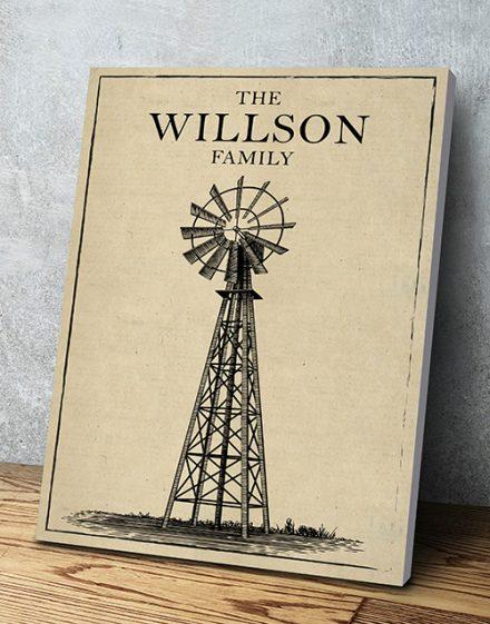Personalised Windmill Wall Art