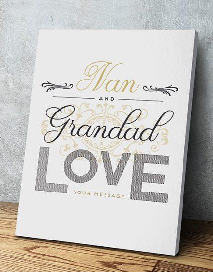 Personalised Grandad Love Wall Art