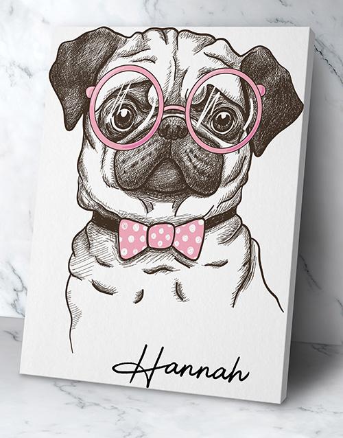 Personalised Cute Dog Wall Art
