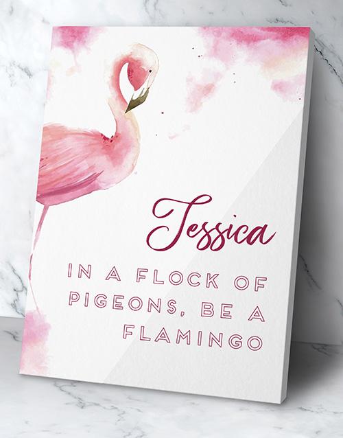 Personalised Flamingo Wall Art