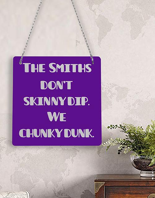 Personalised Skinny Dip Metal Sign