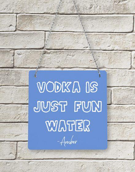 Personalised Vodka Metal Sign