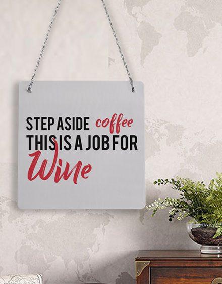 Personalised Coffee Wine Metal Sign
