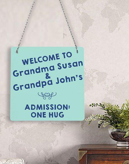 Personalised Hug Admission Metal Sign