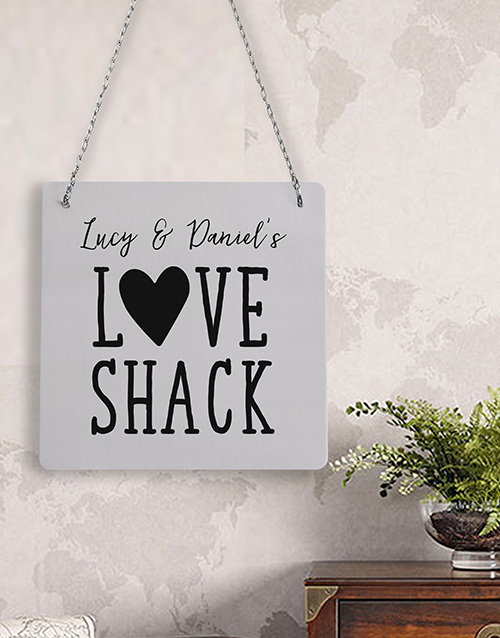 Personalised Love Shack Metal Sign