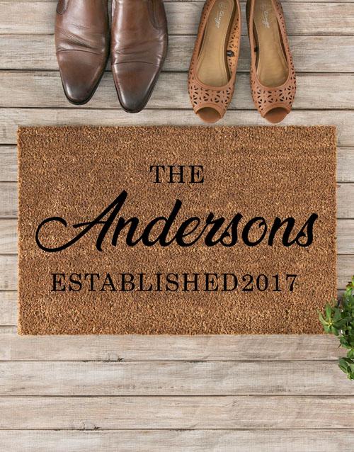 Personalised Family Established Doormat Hamperlicious