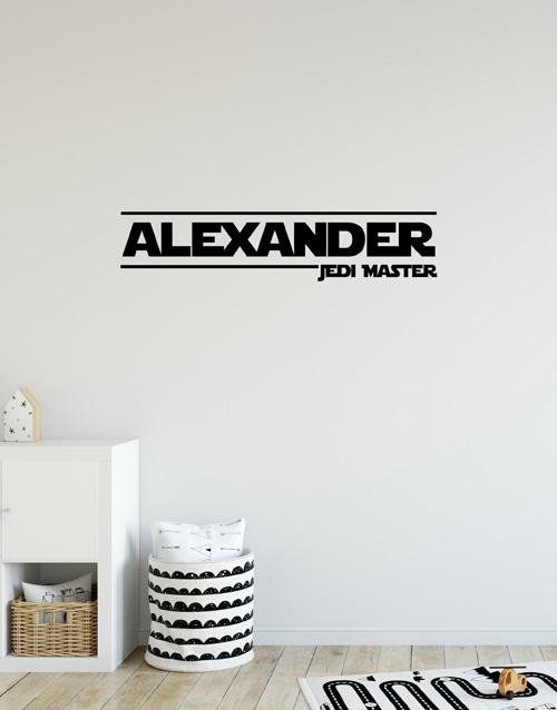 Personalised Name Jedi Master Wall Vinyl