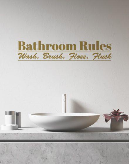 Personalised Bathroom Rules Wall Vinyl