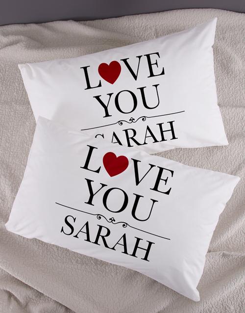Personalised Love You Pillowcase Set