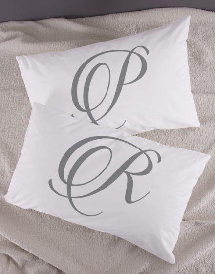 Personalised Initials Pillowcase Set