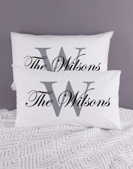 Personalised Family Name Pillowcase Set