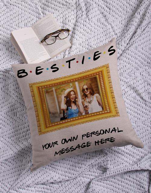 Personalised Besties Photo Scatter Cushion