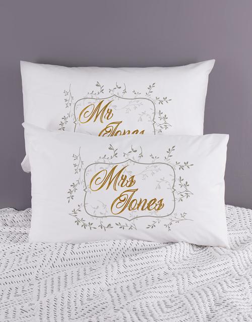 Personalised Ditsy Leaf Pillowcase Set