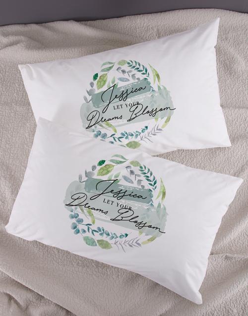 Personalised Dreams Blossom Pillowcase Set