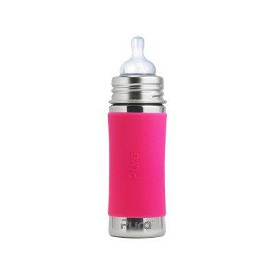 Pura Stainless Pink Infant Bottle, 325ml