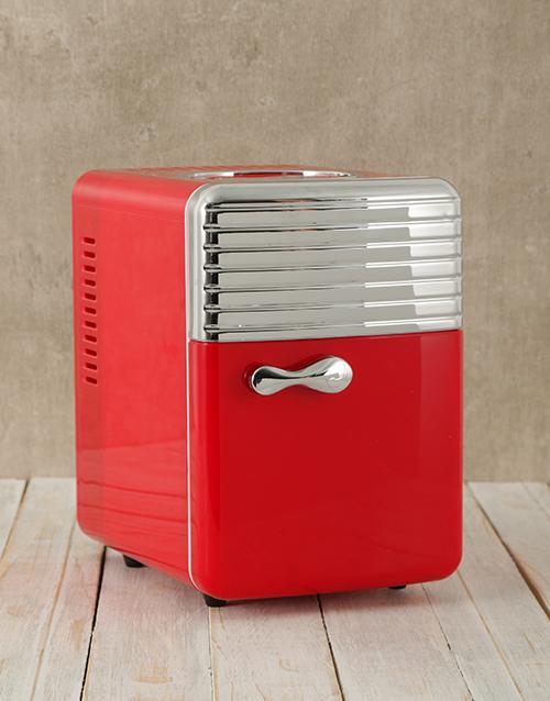 Red Mini Desk Fridge