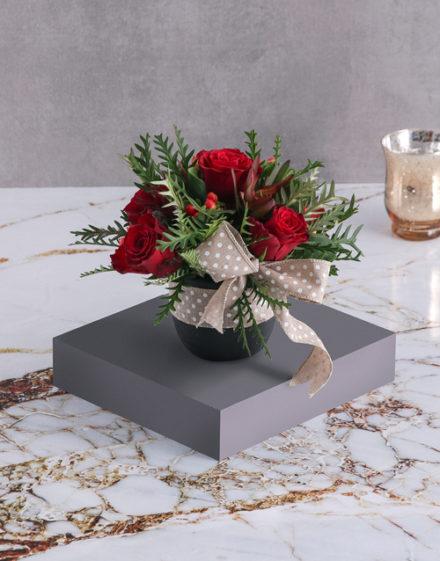 Jolly Red Rose Arrangement