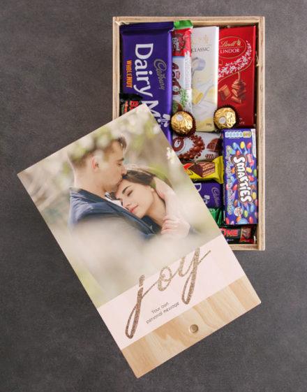Personalised Joy Chocolate Crate