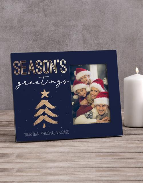 Personalised Seasons Greetings Photo Frame