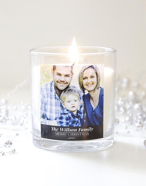 Personalised Christmas Photo Candle