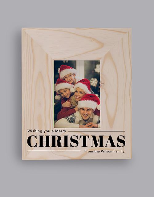 Personalised Christmas Wish Photo Frame