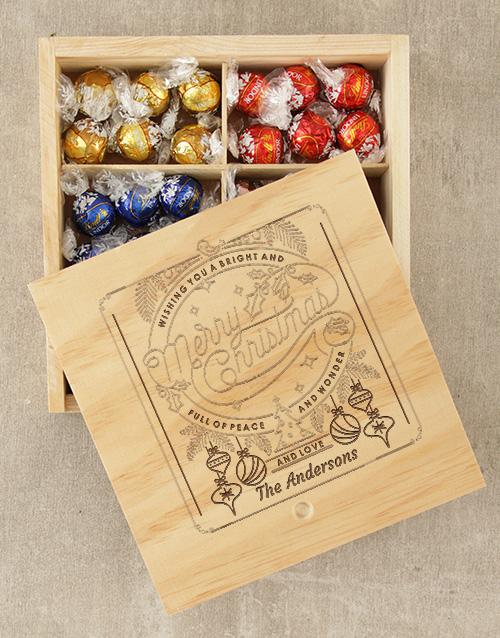 personalised Personalised Christmas Wonder Lindt Box