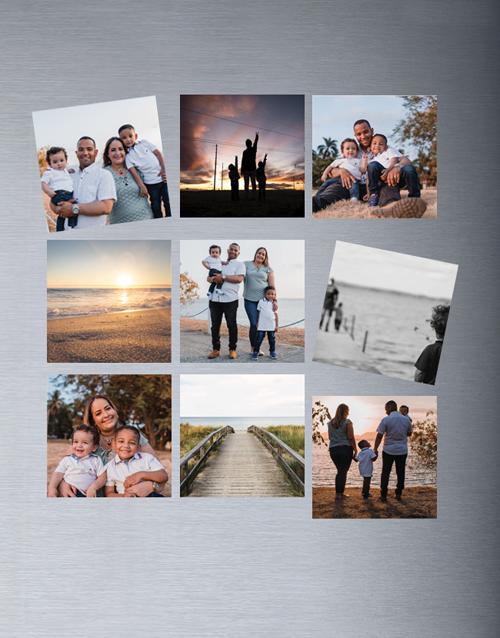Personalised Photo Magnets Set Of Nine