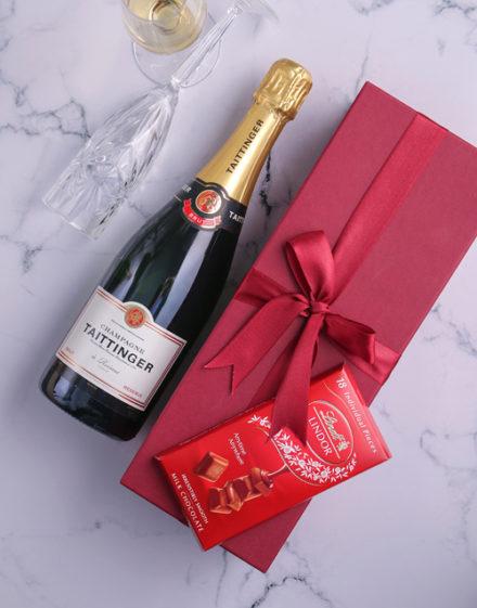 Red Box of Taittinger Champagne