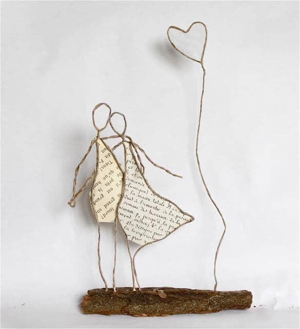 romantic string sculpture