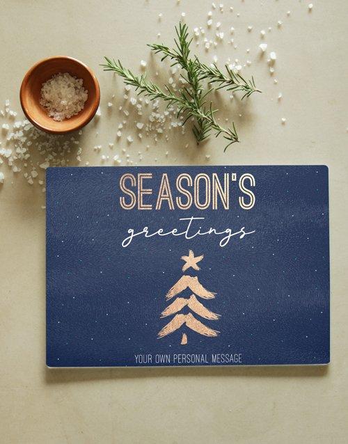 Season Personalised Glass Chopping Board