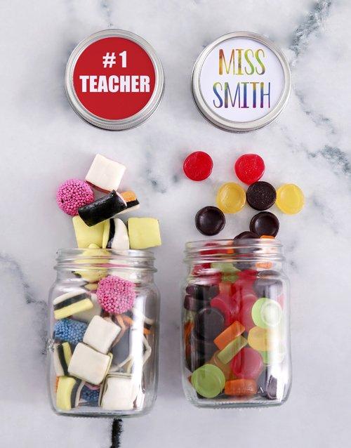 Personalized Teachers Day Sweetie Jar Gift Hamper