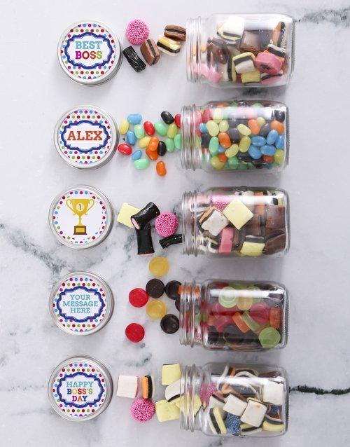 Personalized Boss Day Sweetie Jar Gift Hamper