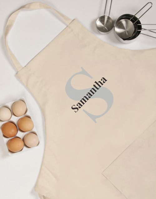 Name and Initial Personalised Apron