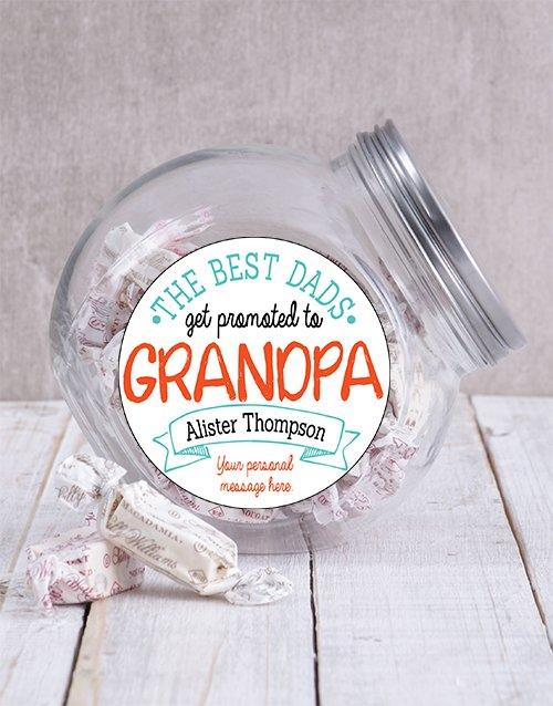 Personalized Best Grandpa Candy Jar