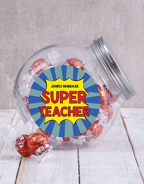 Personalized Super Teacher Candy Jar